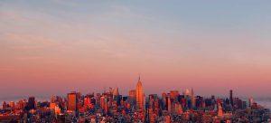 View of Manhattan skyline facing north