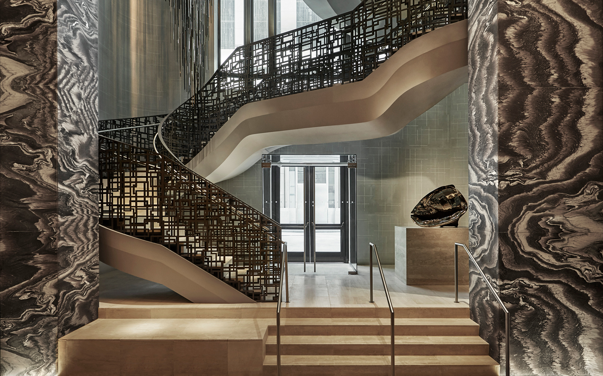 Elegant staircase at the Thirty Park Place