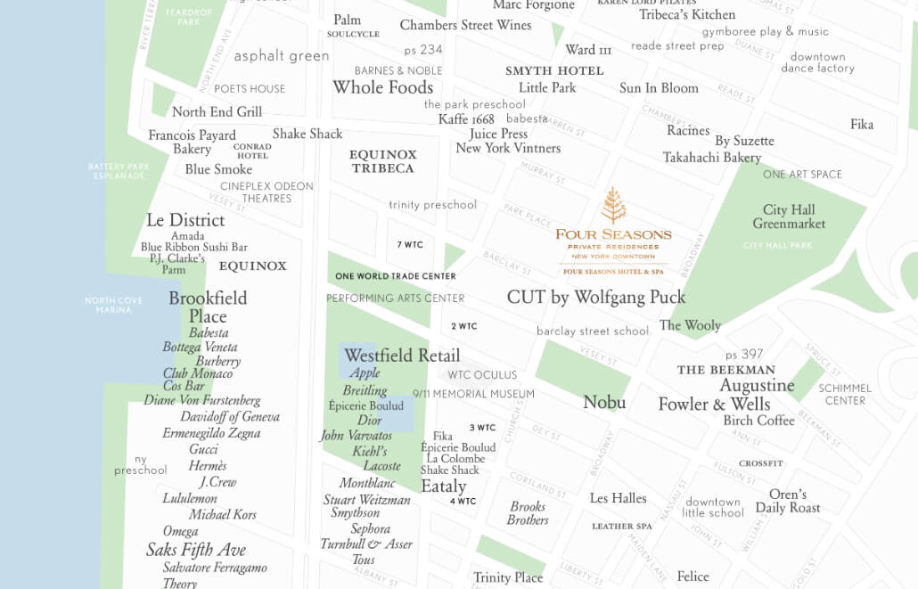 Map of 30 Park Place, click to view locations