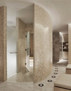 Elegant steam room and sauna